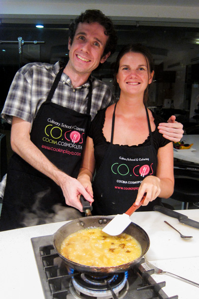At a cooking class in Playa del Carmen, Mexico