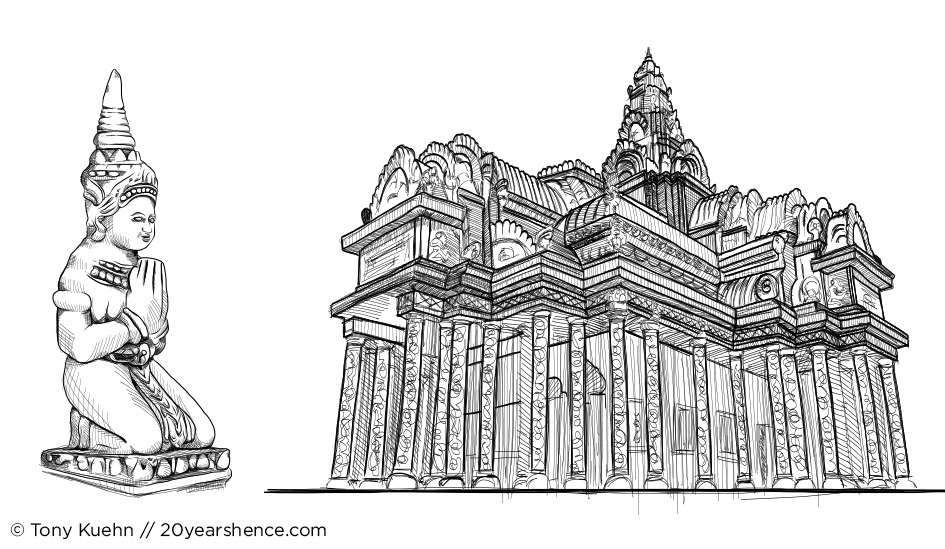 Sunday Sketchup: Cambodian Collage