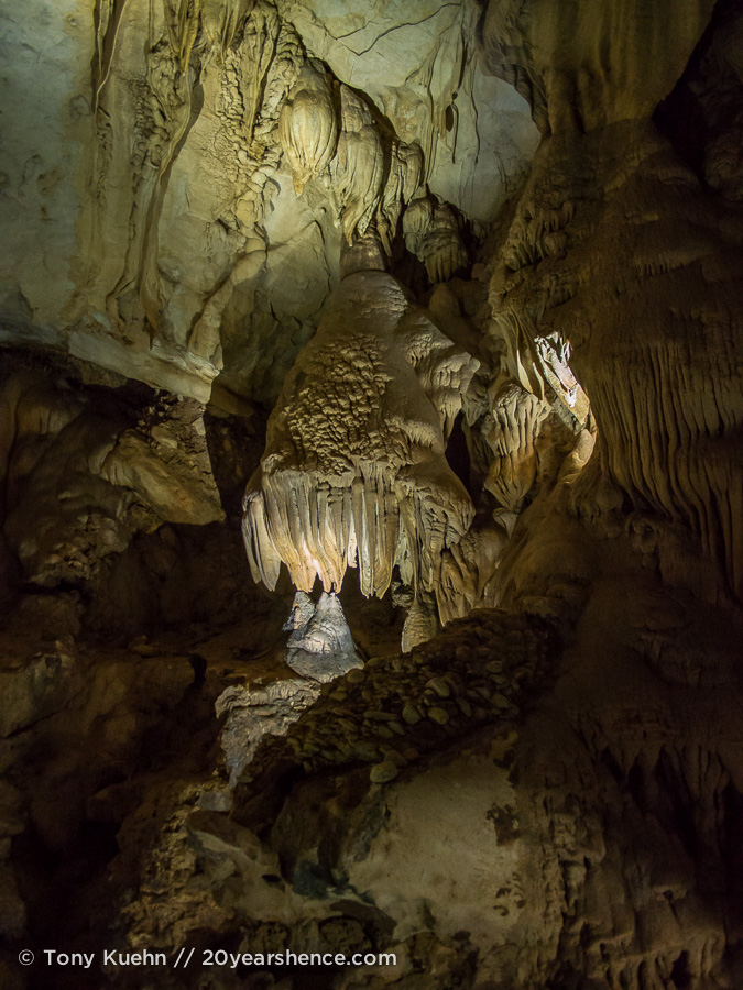 Rock formations in Lang Cave, Mulu National Park