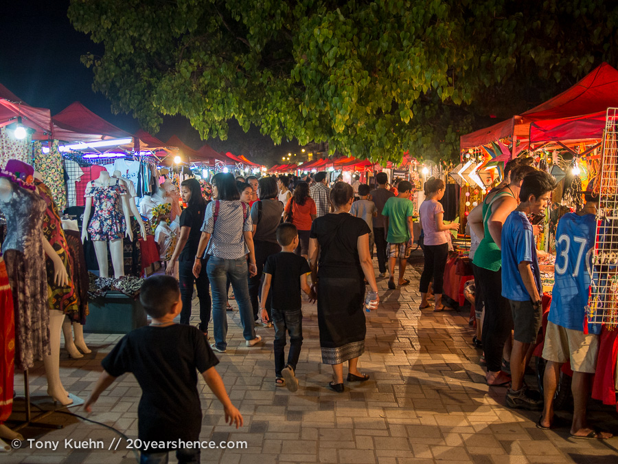 Vientiane's riverfront night-market