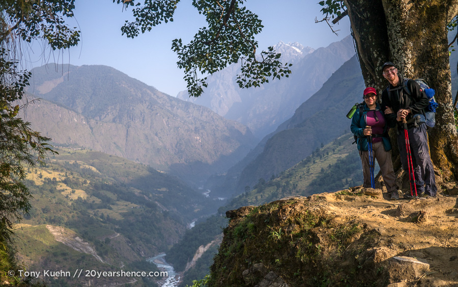 Steph and Tony in Nepal