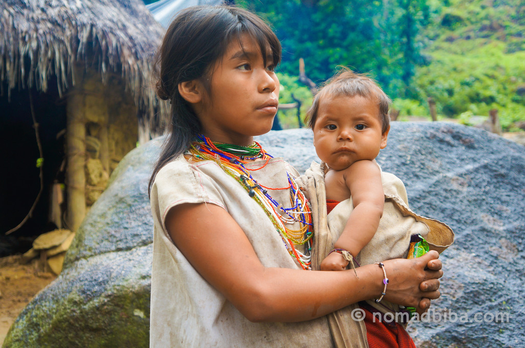 These are some Kogi children who came to greet us as we were heading back from the Lost City in Colombia. I couldn't resist the look on this little baby's face.