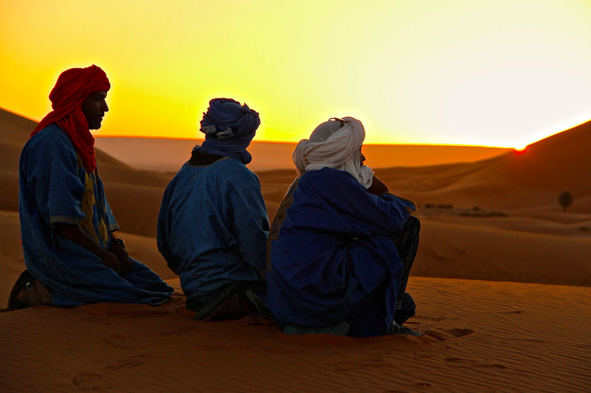 A typical but still magical Sahara Sunrise for Berbers