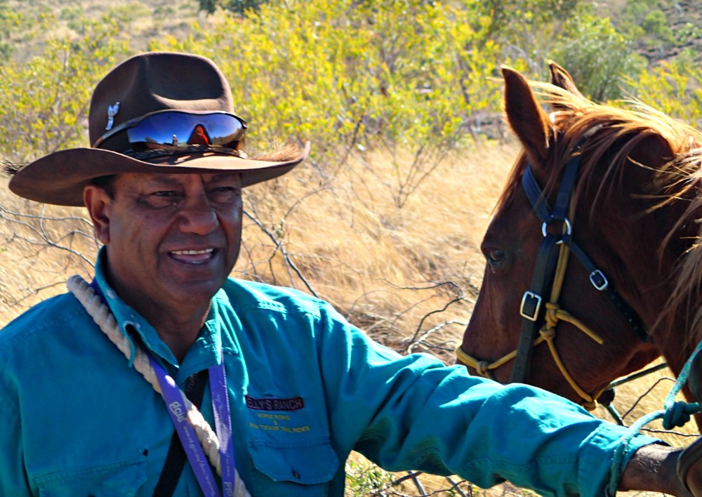 his is Jerry Kelly, a Warumungu man, traditional owner and stockman who took me horse riding across the Barkly Tablelands in the Northern Territory of Australia, while sharing his knowledge of bush tucker.